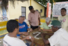 Anton, Cocle province, Panama: group of men playing dominoes at 'Esquina del Domino' - photo by H.Olarte