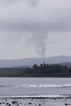 Galeta Island, Col�n province, Panama: air pollution nearby - smoke stack - photo by H.Olarte