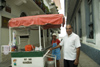 Panama - Panama City - hot dog cart - photo by D.Smith
