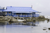 Galeta Island, Col�n province, Panama: the blue building of Galeta Point Marine Laboratory, Smithsonian Tropical Research Institute - photo by H.Olarte