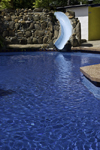 Santiago de Veraguas, Panama: blue water at Hotel La Hacienda swimming pool - photo by H.Olarte