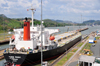 Panama - Panama Canal: ship at the Miraflores locks - Rubin Peony - Bulk Carrier - IMO 9172557 - 3FXO7 - photo by M.Torres