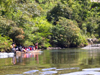Panama - Chagres National Park: a group of tourists travel upriver to the Embera Drua village - Chagres River - photo by H.Olarte