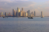 Panama City: urban skyline - skyscrapers and waterfront - photo by H.Olarte