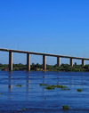 Presidente Hayes department, Paraguay: Remanso bridge over the River Paraguay - Trans Chaco route - photo by A.Chang