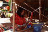 Presidente Hayes department, Paraguay: weaver at work - Maka woman near Puente Remanso - photo by A.Chang