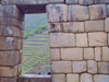 Machu Pichu, Cusco region, Peru: quality in stone masonry - dry stone wall - Inca window - Unesco world heritage - photo by M.Bergsma
