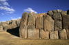 Cuzco, Peru: the ruins of Sacsayhuaman incorporate some of the largest stones ever used by the Inca - main battlements - photo by C.Lovell