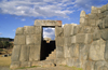 Cuzco, Peru: doorway at the Inca ruins of Sacsayhuam�n which form the puma head portion of Cuzco - photo by C.Lovell