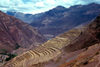Pisac, Cusco region, Peru: terracing in the Sacred valley - photo by J.Fekete