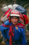 Inca Trail, Cuzco region, Peru: young porter on the Inca Trail to Machu Picchu - Peruvian Andes - photo by C.Lovell