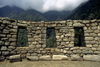Hui�ay Huayna, Cuzco region, Peru: Inca style windows - Inca Trail - photo by C.Lovell