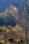 Machu Picchu, Cuzco region, Peru: the Inca ruins sit atop a ridge in the Urubamba River Valley - UNESCO world heritage - Peruvian Andes- photo by C.Lovell