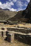 Ollantaytambo, Cuzco region, Peru: incredible stone terraces built by the Inca at the fortress of Ollantaytambo - Sacred Valley- photo by C.Lovell