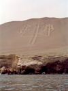 Islas Ballestas / Ballesta islands, Ica region, Peru: decorated slope - Geoglyphs - photo by M.Bergsma