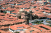 Cuzco, Peru: overlooking the Cathedral and the main square - Plaza de Armas - red roofs - photo by J.Fekete