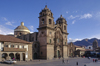 Cuzco, Peru: La Compa�ia Church was built by the Jesuits on the Plaza de Armas � it stands over the foundations of Huayana Capac�s palace - photo by C.Lovell
