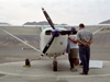 Nazca / Nasca, Ica region, Peru: light aircraft on the tarmac - photo by M.Bergsma