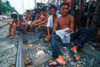 Manila city, Philippines - youths on the railway tracks - Slums and shanty towns - photo by B.Henry
