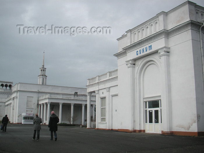 abkhazia15: Abkhazia, Georgia - Sukhumi: the train station - photo by A.Kilroy - (c) Travel-Images.com - Stock Photography agency - Image Bank