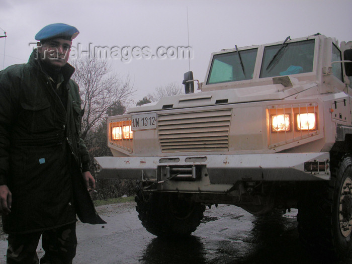 abkhazia2: Abkhazia - Inguri River/Gali: UNOMIG soldier - UN peace keeper - United Nations Observer Mission in Georgia (photo by A.Kilroy) - (c) Travel-Images.com - Stock Photography agency - Image Bank