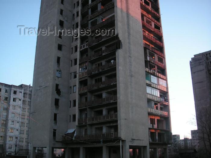abkhazia21: Abkhazia - Sukhumi: apartment tower (photo by A.Kilroy) - (c) Travel-Images.com - Stock Photography agency - Image Bank