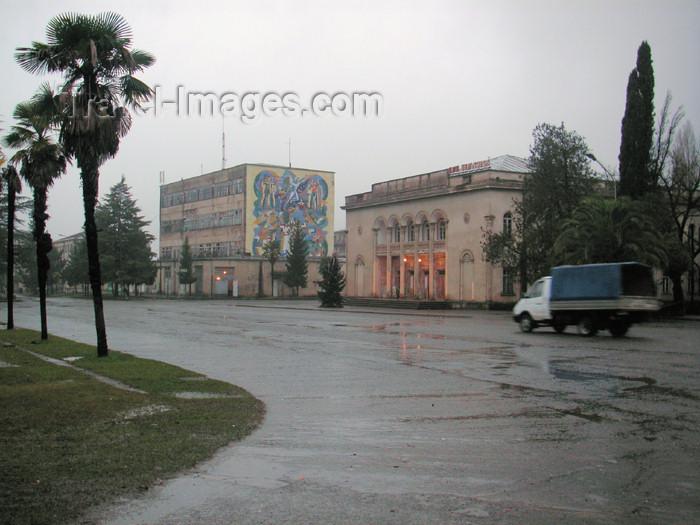 abkhazia4: Abkhazia - Gali: House of Culture (photo by A.Kilroy) - (c) Travel-Images.com - Stock Photography agency - Image Bank