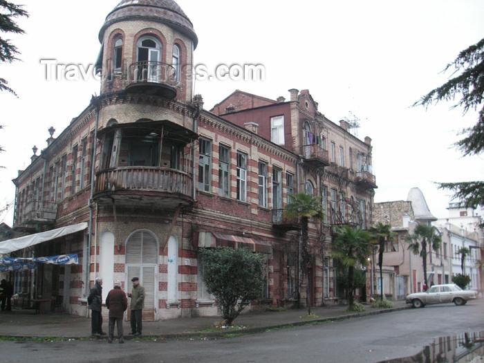 abkhazia7: Abkhazia - Sukhumi: street corner (photo by A.Kilroy) - (c) Travel-Images.com - Stock Photography agency - Image Bank