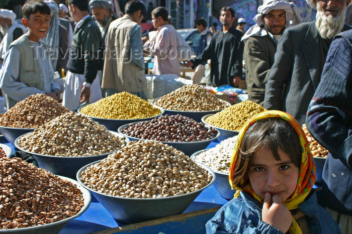 afghanistan13: Afghanistan - Herat - nuts for sale before Eid ul-Fitr - market scene - photo by E.Andersen - (c) Travel-Images.com - Stock Photography agency - Image Bank