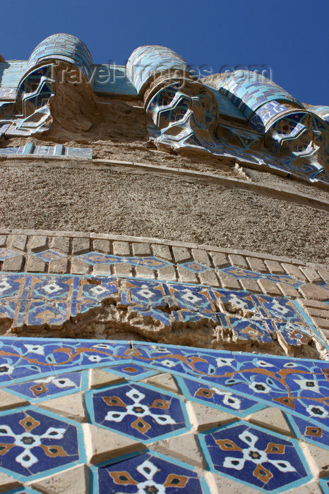 afghanistan17: Afghanistan - Herat - The Musalla complex - tiles - photo by E.Andersen - (c) Travel-Images.com - Stock Photography agency - Image Bank