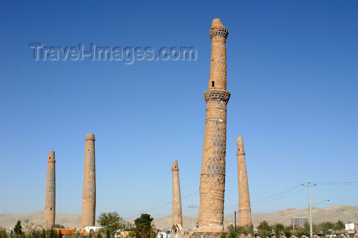 afghanistan18: Afghanistan - Herat - The Musalla complex with the remaining minarets - photo by E.Andersen - (c) Travel-Images.com - Stock Photography agency - Image Bank