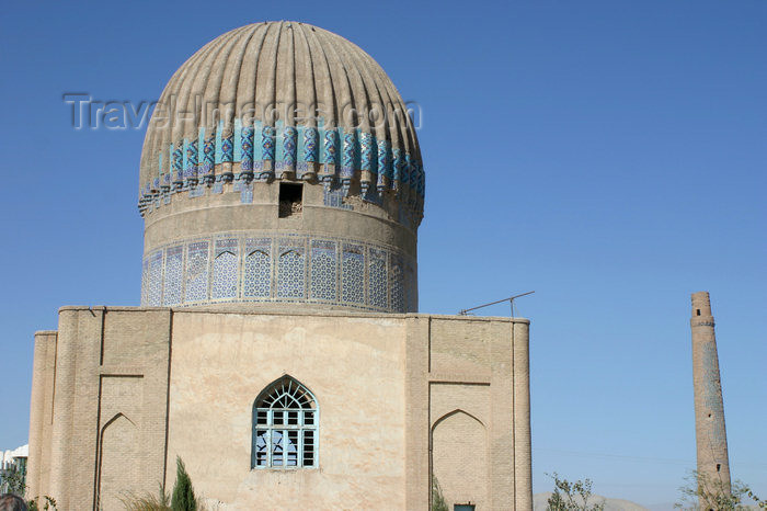 afghanistan19: Afghanistan - Herat - The Musalla complex, built under the rule of Queen Gawharshad - dome - photo by E.Andersen - (c) Travel-Images.com - Stock Photography agency - Image Bank
