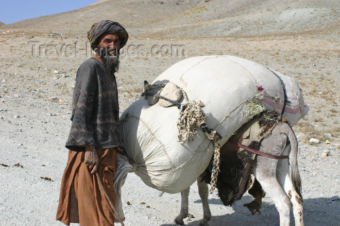 afghanistan25: Afghanistan - Herat province - man with his donkey - photo by E.Andersen - (c) Travel-Images.com - Stock Photography agency - Image Bank