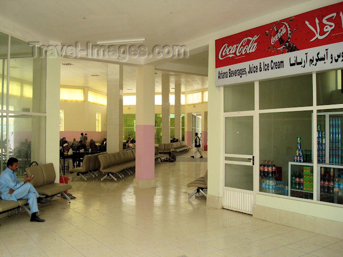 afghanistan36: Kabul, Afghanistan: waiting lounge at Kabul International Airport - Khwaja Rawash Airport - Ariana shop - KBL - photo by N.Zaheer - (c) Travel-Images.com - Stock Photography agency - Image Bank