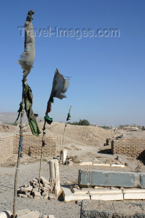 afghanistan9: Afghanistan - Herat - graves marked with flags - photo by E.Andersen - (c) Travel-Images.com - Stock Photography agency - Image Bank