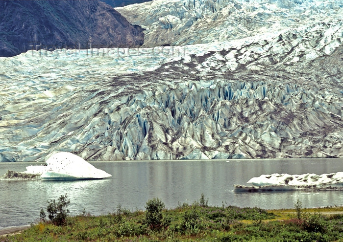 alaska107: Alaska - Juneau:Menden Hall glacier (photo by A.Walkinshaw) - (c) Travel-Images.com - Stock Photography agency - Image Bank