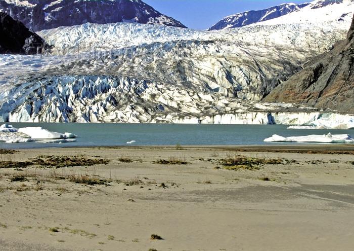 alaska108: Alaska - Juneau:Menden Hall glacier (photo by A.Walkinshaw) - (c) Travel-Images.com - Stock Photography agency - Image Bank