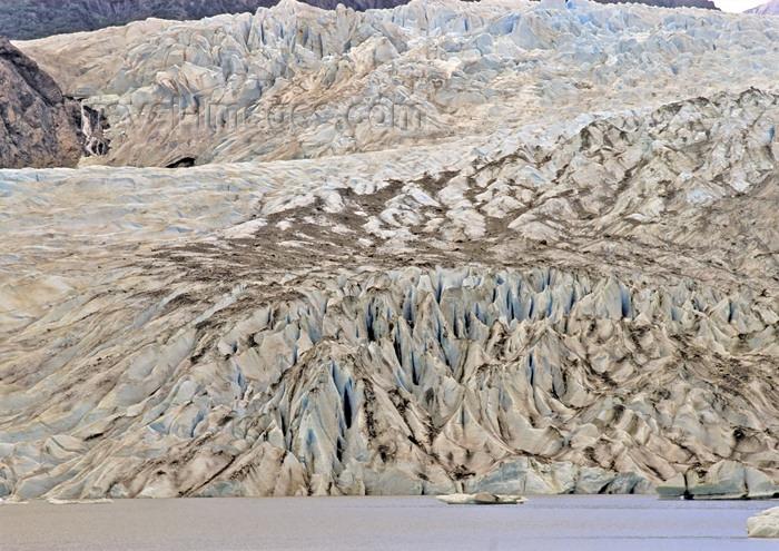 alaska109: Alaska - Juneau:Menden Hall glacier - meeting the sea (photo by A.Walkinshaw) - (c) Travel-Images.com - Stock Photography agency - Image Bank