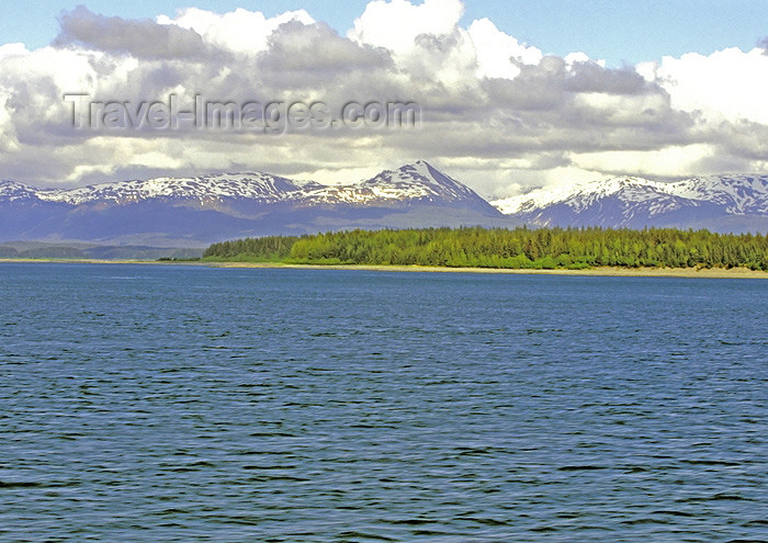 alaska119: Alaska - Glacier Bay NP: landscape - mountains and forest (photo by A.Walkinshaw) - (c) Travel-Images.com - Stock Photography agency - Image Bank