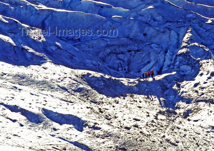 alaska128: Alaska - Glacier Bay NP: Glacier Track - group on mountain side (photo by A.Walkinshaw) - (c) Travel-Images.com - Stock Photography agency - Image Bank