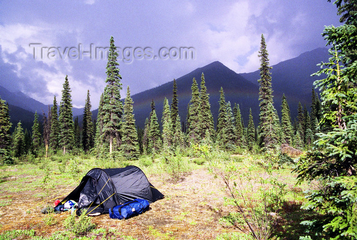 alaska139: Brooks range, Alaska: bivouac - camping in the wild - photo by E.Petitalot - (c) Travel-Images.com - Stock Photography agency - Image Bank