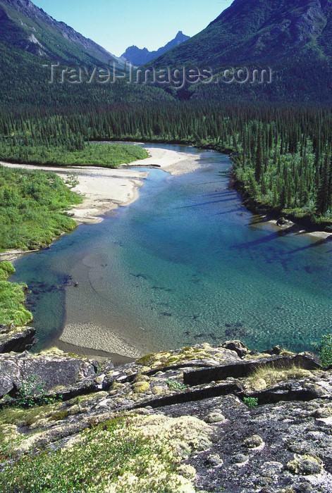 alaska145: Brooks range, Alaska: clear water of Kaluluktok river  - photo by E.Petitalot - (c) Travel-Images.com - Stock Photography agency - Image Bank
