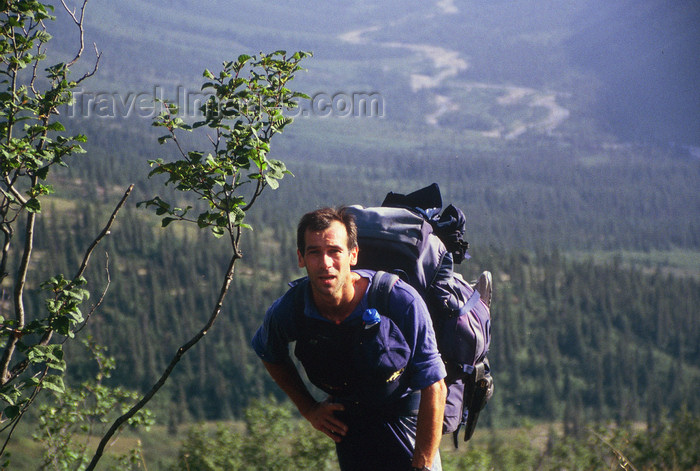 alaska147: Brooks range, Alaska: lonesome hiking - photo by E.Petitalot - (c) Travel-Images.com - Stock Photography agency - Image Bank