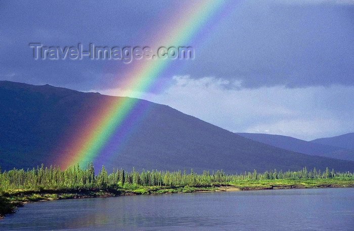 alaska153: Brooks range, Alaska: rainbow on the Kobuk river - photo by E.Petitalot - (c) Travel-Images.com - Stock Photography agency - Image Bank