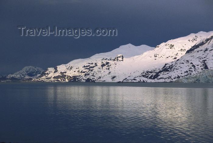 alaska169: Alaska - Glacier bay - sunset on a snow-covered mountain - photo by E.Petitalot - (c) Travel-Images.com - Stock Photography agency - Image Bank