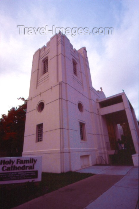 alaska17: Alaska - Anchorage / ANC: Holy Family Cathedral on W 5th Ave - photo by F.Rigaud - (c) Travel-Images.com - Stock Photography agency - Image Bank
