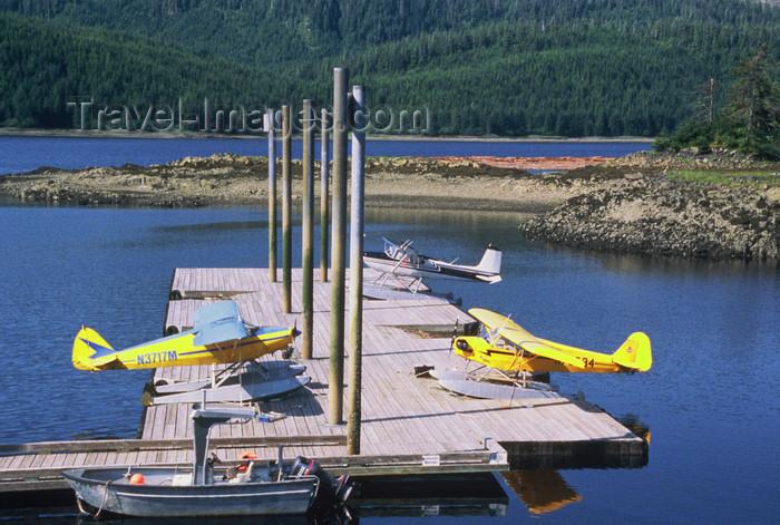 alaska183: Alaska - south: seaplane parking - photo by E.Petitalot - (c) Travel-Images.com - Stock Photography agency - Image Bank