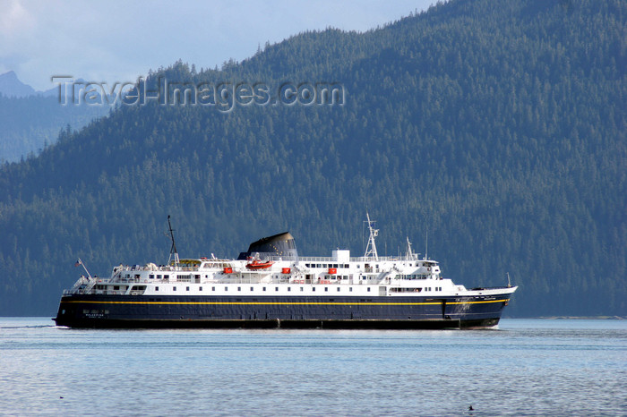 alaska205: Wrangell Island, Alexander Archipelago, Alaska: Alaska State Ferry 'Malaspina' - photo by R.Eime - (c) Travel-Images.com - Stock Photography agency - Image Bank