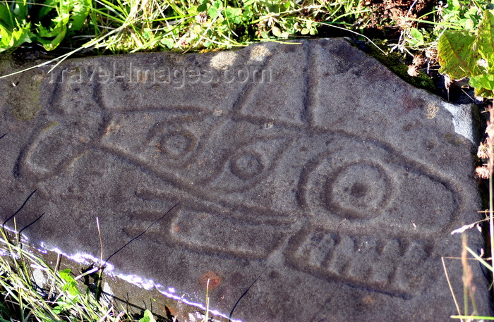 alaska207: Petroglyph Beach, Wrangell Island, Alexander Archipelago, Alaska: fish petroglyph - photo by R.Eime - (c) Travel-Images.com - Stock Photography agency - Image Bank
