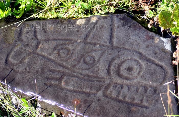 alaska207: Petroglyph Beach, Wrangell Island, Alexander Archipelago, Alaska: fish petroglyph - photo by R.Eime - (c) Travel-Images.com - Stock Photography agency - Image Bank